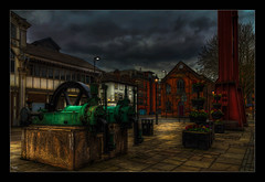 The Pumps (Kev Walker ¦ From Manchester) Tags: architecture building canon1100d canon1855mm castlefileds citycentre england hdr lancashire manchester northwest outdoor photoart photoborder postprocessing spinningfields streetlamps streetlights