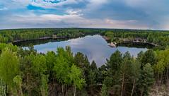 Blick vom Aussichtsturm über den See Namens Afryka (matthias_oberlausitz) Tags: leknica geopark muskauer faltenbogen teich see tongrube afrika afryka