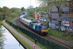 "Direct Rail Services Class 68 68022 ""Resolution"" cruises through University (Oz_97) Tags: university directrailservices 68022"