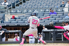 Astros second baseman Jose Altuve takes a pitch in the first inning. (apardavila) Tags: houstonastros josealtuve mlb majorleaguebaseball newyorkyankees yankeestadium yankees yanks baseball sports