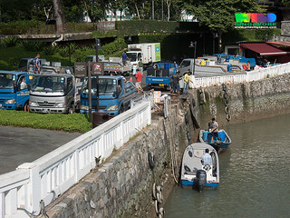 Changi Creek Jetty still well used by fish farmers, May 2017