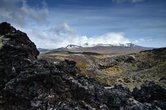 Krákhólar - Snæfellsjökull. (Árni Gudjon) Tags: krákhólar volcanic crater snæfellsjökull lava fjöll jökull himinn iceland