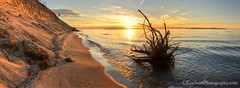Lake Michigan ... bluffside sunset (Ken Scott) Tags: pyramidpoint sunset beach erosion manitouislands panorama leelanau michigan usa 2017 may spring 45thparallel fhdr kenscott kenscottphotography kenscottphotographycom freshwater greatlakes lakemichigan sbdnl sleepingbeardunenationallakeshore voted mostbeautifulplaceinamerica