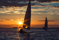 Sunset Sailing (redbankmoz) Tags: marinelake westkirby landscape seascape sunset sailing