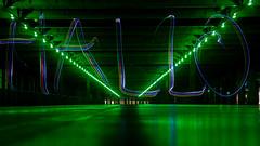 20161113-IMG_9737 (Nemesis_86) Tags: weiterstadt parkdeck parkhaus parkgarage grün licht nacht lightpainting lichter lights dunkel dunkelheit hessen