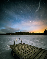 Inkoo,Finland (Oscar Keserci Photography) Tags: nikon nature nikond750 nightphotography night nightscapes nightimages nikkor1835 landscapes luonto longexposure landscape luontokuva lake landskap light suomi scandinavia stars finland pier print photography uusimaa europe clouds