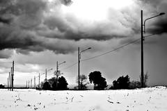 L'orma (pinomangione) Tags: pinomangione landscape paesaggio santelia palmi neve inverno biancoenero monocrome monocromo cielo