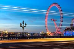 London Eye (FloPaco) Tags: londres london wheel grande eye sky night outside bridge wanderlust landscape travel city uk europe tames tamise ville skyline colour sunset light lumière clouds street