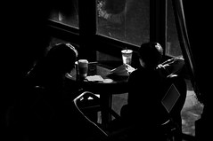 Feelin' Alright   !!!! (imagejoe) Tags: vegas nevada street strip black white photography photos shadows reflections people nikon