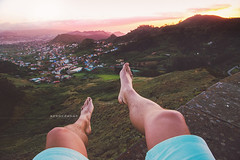 "Sunset. (¡arturii!) Tags: wow amazing awesome superb interesting stunning impressive nice beauty great arturii arturdebattk ""canonoes6d"" gettyimages travel trip tour route viatge holidays vacations selfie pov pointofview nature sunset colors landscape view island tenerife canarias canary spain leg foot barefoot sky beautiful teide summer sand beach feet viewpoint traveler"