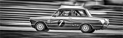 1963 Ford Lotus Cortina (jdl1963) Tags: cscc bw blackandwhite mono monochrome black white thruxton 1963 ford lotus cortina