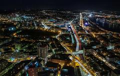 turnpike (Mark J. Whalen) Tags: boston massachusetts turnpike 128 lateatnight darkoutside charlesriver fenway citgo