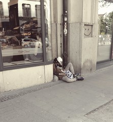 PART ONE --- at the bottom! (From The Streets Of Hamburg) Tags: fromthestreetsofhamburg homeless obdachlos penner streetsleeping schlafenaufderstrasse stgeorg bum sleeping
