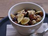 Homemade Muesli (Long Sleeper) Tags: food breakfast cafe hoppercoffee muesli homemademuesli huisgemaaktemuesli nuts fruit driedfruit honey bowl spoon rotterdam holland thenetherlands lumixg425mmf17asph dmcgx1