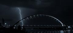 de oversteek nijmegen (st.weber71) Tags: beleuchtung gewitter wasser blitze deoversteek nijmegen langzeitbelichtung lzb nikon nachts nightshot natur himmel architektur niederlande