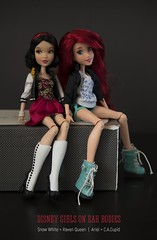 Disney + Ever After High (dancingmorgana) Tags: disney doll dolls ariel snow white snowwhite hybrid head body everafterhigh ever after high fairytales mermaid