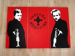 The Boondock Saints 3 - origins (pop-art-world_de) Tags: boonrocksaints3 derblutigepfadgottes3 pop art artwork popartportrait schwarzweis leinwand acrylleinwand acryl acrylmalerei acrylbilder wallpaper