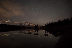 Starry Sky (Margarita Genkova) Tags: stars twojacklake night lowlight banffnationalpark calgary alberta landscape nature banff national park lake water peaceful serene