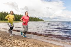 running on the beach of a lake (VisitLakeland) Tags: finland lakeland juosta run sport forest nature jogging lenkkeily hölkätä lake järvi beach shore ranta hiekka aalto