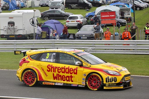 Mat Jackson in BTCC action at Oulton Park, May 2017