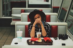 June 28th, 2017 » These shots had no business turning out as perfect as they did. These were taken in a McDonald's on the sketchy part of town, and yet I still swoon as I scroll through. Just how » Taken by Emma aka @idiotcactus on Instagram (Human Visuals) Tags: june28th2017threeordersoflfrieslater… moody atmospheric oddlysatisfying mcdonalds mcdons fries 50mm 14 24mm 28 cinematic vignette bold grunge redandwhite food morefriespls femalemodel emotrash lesbianoscarnominee horseriderjunkienikondoublerainbow phew