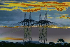 Powerful Pair! (maginoz1) Tags: skyscape landscape surreal abstract art pylons curves manipulate june 2017 canon g3x shockofthenew