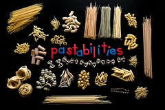 pastabilities (auntneecey) Tags: concept flatlay pasta pastabilities collection blackbackground