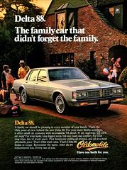 1983 Oldsmobile Delta 88 Sedan (aldenjewell) Tags: 1983 oldsmobile delta 88 sedan ad