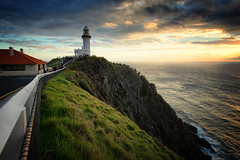 First light (Pat Charles) Tags: byronbay capebyron lighthouse sunrise dawn early morning travel tourism newsouthwales nsw australia nikon grass clouds outdoor outside outdoors leadinglines light welcome