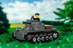 Brickmania Panzer 1 Ausf. B (Yitzy Kasowitz) Tags: pz1 panzer1 germantank brickmania ww2 lighttank legotank brickarms
