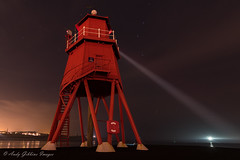 """""""The chances of anything coming from Mars are a million to one - but still they come!"""" (Andy Gibbins Images) Tags: herdgroyne lighthouse night northeastuk nikon d5500 tokina1116 tokinauk longexposure waroftheworlds seascape rivertyne southshields southtyneside"""