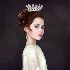 Doll ('_ellen_') Tags: doll princess girl crown black white colour halfwoman halfchild