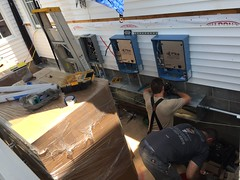 Pika Islanding Inverters mid-installation