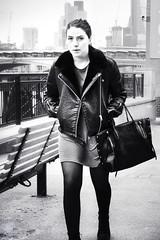London Streets (High Key) (Sean Hartwell Photography) Tags: southbank london girl women candid walking thames blackandwhite highkey uk