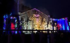 Durga Puja Immersion Carnival - Shibpur Mandirtala (Debarshi Ray) Tags: india westbengal kolkata calcutta autumn redroad hinduism durgapuja idol trailer truck lorry blue red yellow procession shibpurmandirtala street road immersion float tableux sky carnival canon canoneos70d tamron tamronaf18270mmf3563