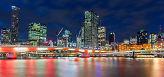 流光溢彩 what's your colour? (nzfisher) Tags: colour colourful night skyline cityscape landscape cbd centralcity river brisbane brisbaneriver bridge reflection longexposure canon 24mm
