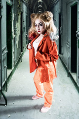 Harley Quinn in Prison (steved_np3) Tags: harley quinn prison batman comic girl female orange compersite shadows