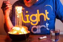 Light Breakfast.  106-365. (FadeToBlackLP) Tags: lightpainting lightart longexposure steelwool wirewool lighttrails