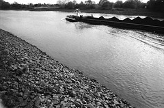 """""""I have a large barge..."""" (Alexander ✈︎ Bulmahn) Tags: barge river boat inland vessel ship binnenschiff weser waves adox chm 400 xelriade"""