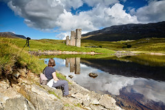 Another time, another place (andrewmckie) Tags: ardvreck ardvreckcastle assynt lochassynt unda undaj scotland scottish scottishscenery scenery outdoor landscape