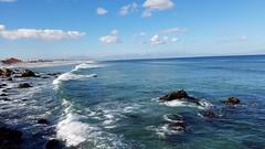Looking back at Muizenberg beach