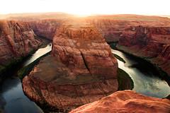Horseshoe bend sunset time (vittone.federica) Tags: arizona horseshoebend horseshoe bend canyon usa sunsettime sunset colorado amazing canon eos550d arizonapassages grandcanyon
