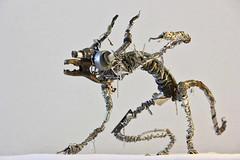 Sculpture from recycled metal Daemon (Vortex67) Tags: art metal handmade wire sculpture recycled robot craft démon daemon monster monstre