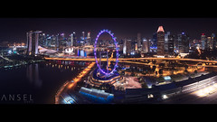 Night Flyer (draken413o) Tags: singapore flyer marina bay sands city cityscapes skyline skyscrapers urban places scenes architecture dji phantom 4 pro aerial drone panorama night wow