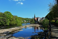 River Dee at Llangollen (Eddie Crutchley) Tags: europe uk wales llangollen outdoor nature beauty river riverdee blueskies simplysuperb greatphotographers