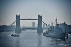 Tower Bridge and HMS Belfast (gary8345) Tags: 2017 uk unitedkingdom greatbritain britain england london londonist snapseed towerbridge bridge
