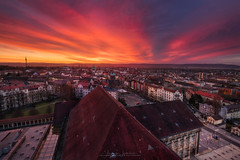 red awakening (Alexander Lauterbach Photography) Tags: kassel hessen nordhessen deutschland germany cassel sunrise sonnenaufgang sky sun red epic city cityscape stadt sony a7r a7rm2 a7rii lee