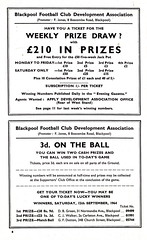 Blackpool vs Sunderland - 1964 - Page 8 (The Sky Strikers) Tags: blackpool football club sunderland league division one bloomfield road official programme 4d