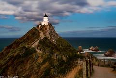 Along the Caitlins!! (Doreen Bequary) Tags: caitlinscoast newzealand lighthouse seacliffs ocean water seaside seascape d500 longexposure leefilters bigstopper nuggetpoint