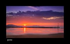 Sunset Old Colwyn (steveowen528) Tags: breaker conwy greatbritain groyne oldcolwyn rhosonsea sea seascape sunset uk wales beach clouds coast northwales